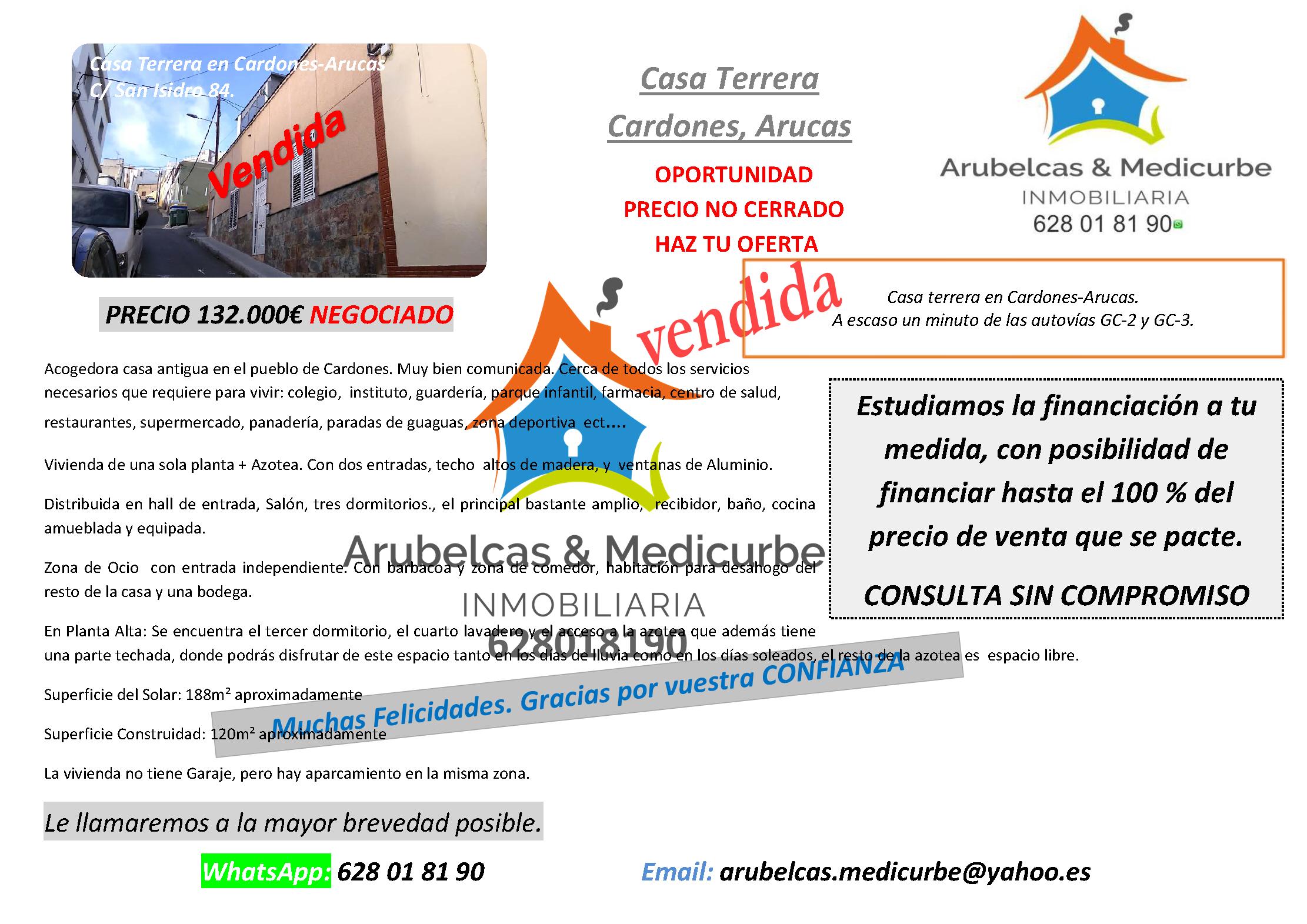VENDIDA CARDONES ARUCAS